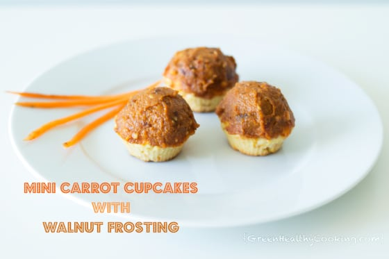 Mini Carrot Cupcakes with Walnut Frosting