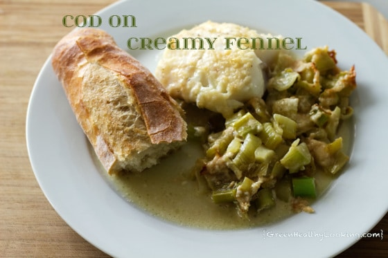 Cod on Creamy Fennel