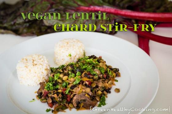 Vegan Lentil Chard Stir-Fry