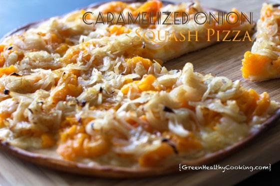 Caramelized Onion Squash Pizza