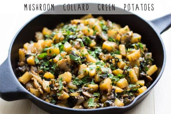 Mushroom Collard Green Potatoes