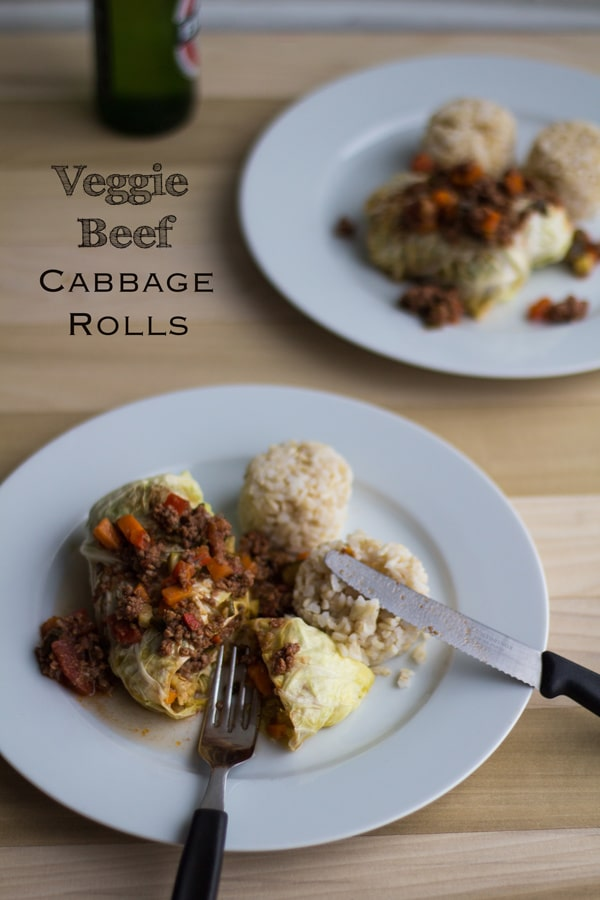 Veggie Beef Cabbage Rolls
