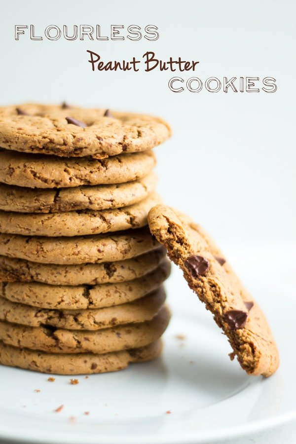 A clean ingredient cookie recipe that is delicious deserves many stars. This 3-ingredient recipe for Flourless Peanut Butter Cookies deserves shooting stars and the moon on top as well! Yes, it's that good!
