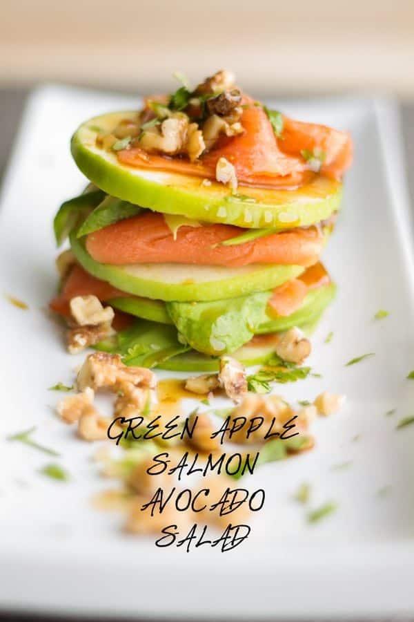 Green Apple Salmon Avocado Salad