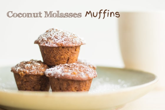 Coconut Molasses Muffins