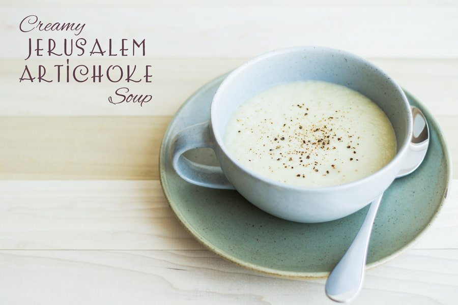 Creamy Jerusalem Artichoke Soup Green Healthy Cooking