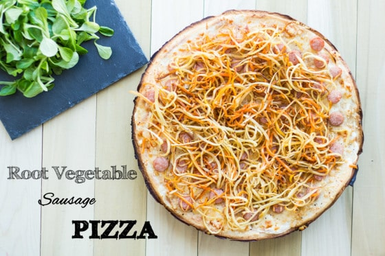 Root Vegetable Sausage Pizza