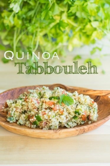 Your favorite Lebanese Tabbouleh with Quinoa instead of bulgur. Try this an amazing traditional recipe with a twist. Lebanese-Peruvian cuisine anyone?