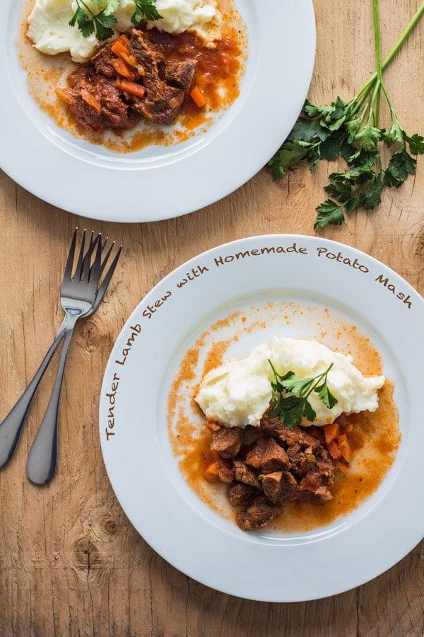 Tender Lamb Stew with Homemade Potato Mash