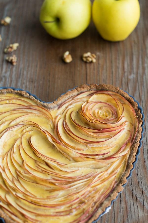 Valentine's Apple Rose Tart Close Up