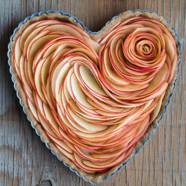 Valentine's Apple Rose Tart Apple Slices before baking.