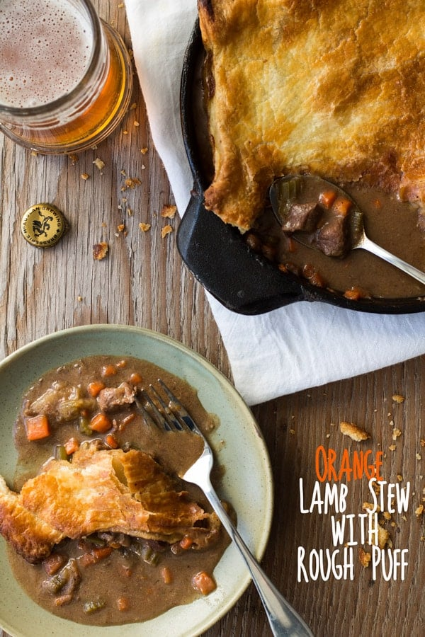 Orange Lamb Stew with Rough Puff