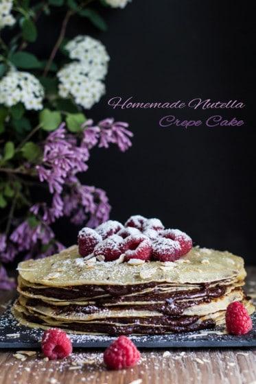 Homemade Nutella Crepe Cake