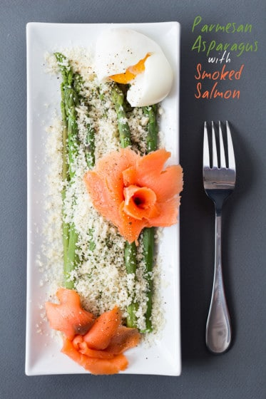 Parmesan Asparagus with Smoked Salmon