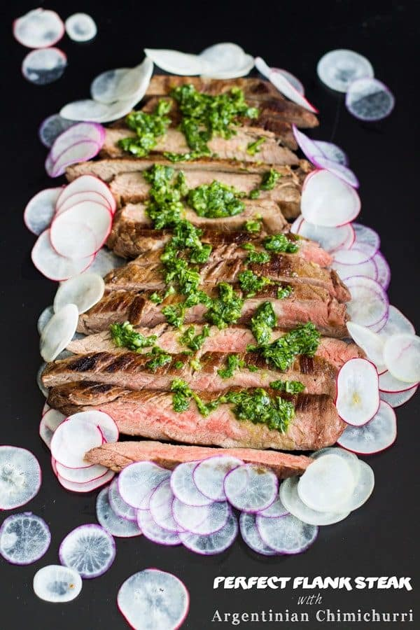 Perfect Flank Steak with Argentinian Chimichurri
