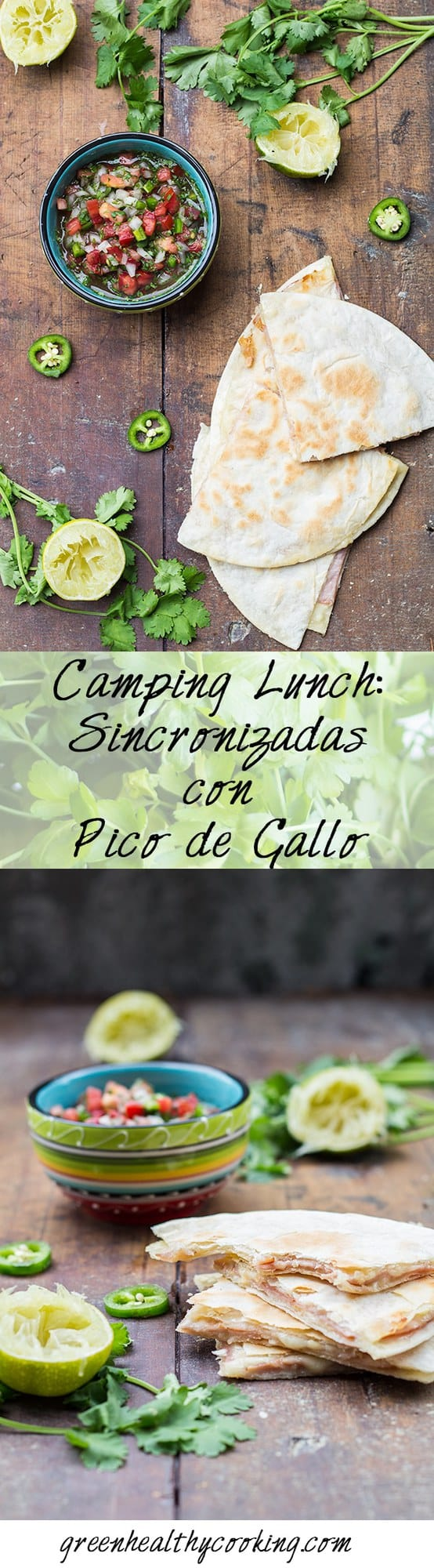 Collage of Sincronizadas con Pico de Gallo images with text overlay for Pinterest.