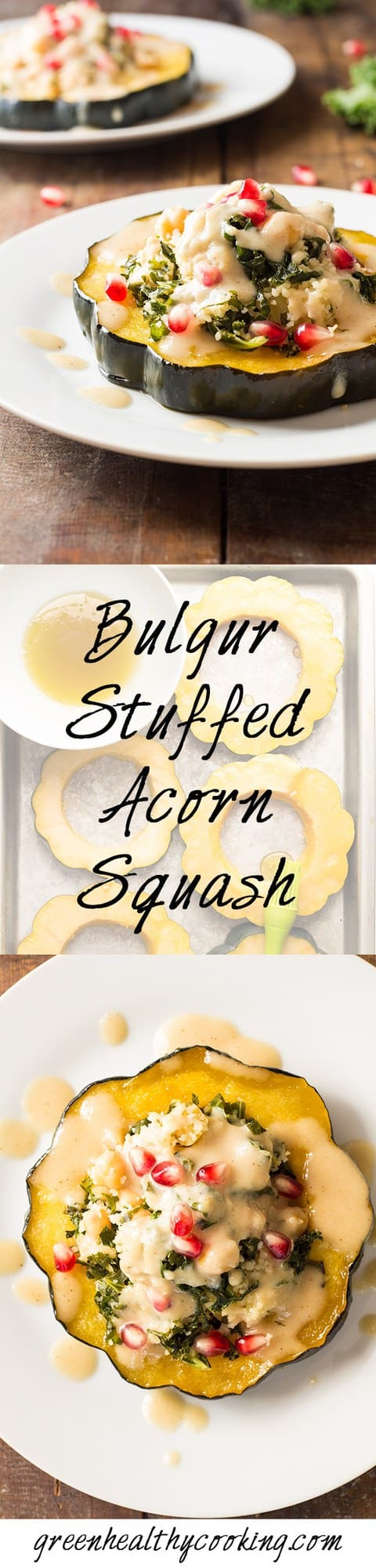Green Healthy Cooking | Bulgur Stuffed Acorn Squash - Green Healthy ...