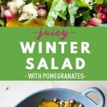 Collage of Winter Salad images with text overlay for Pinterest.