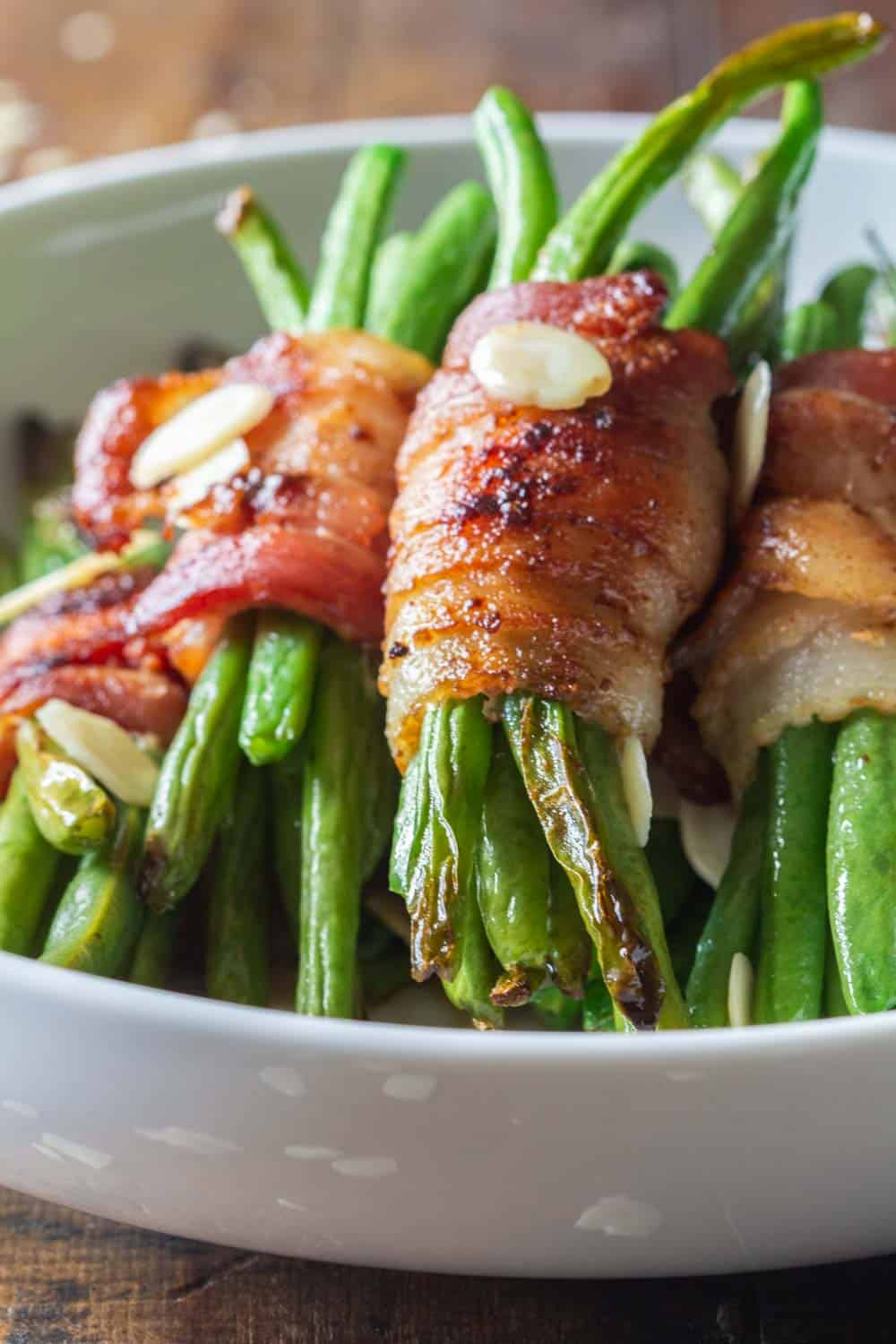 Closeup of Bacon Wrapped Green Beans