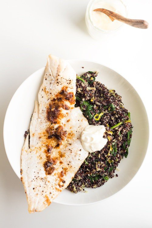 Haddock with Black Quinoa Risotto