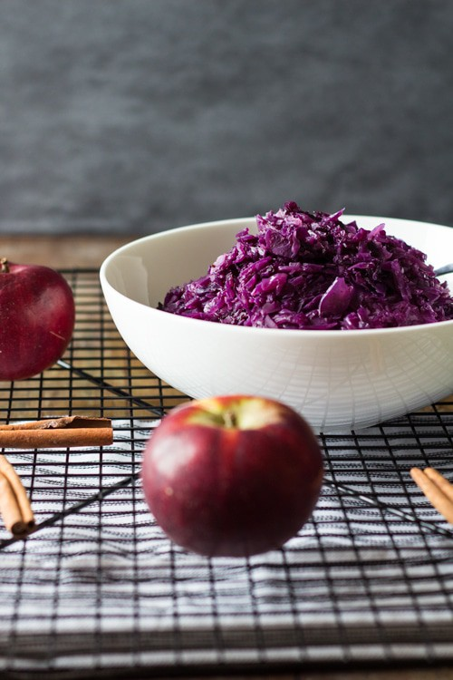 Braised Red Cabbage and Apple