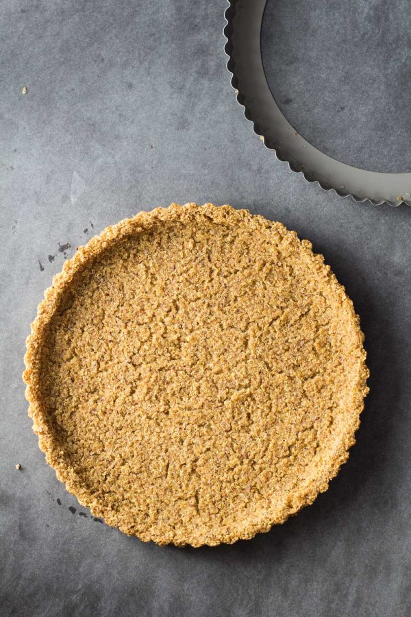 Cooked 2-Ingredient Quinoa Crust suitable for gluten-free quinoa quiche crust, gluten-free quinoa pie crust and quinoa pizza crust.