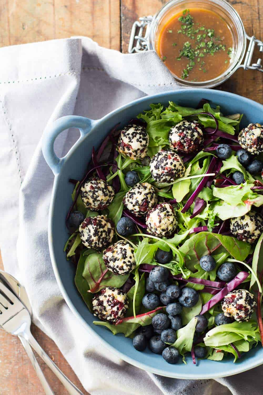 Seeded Warm Goat Cheese Salad