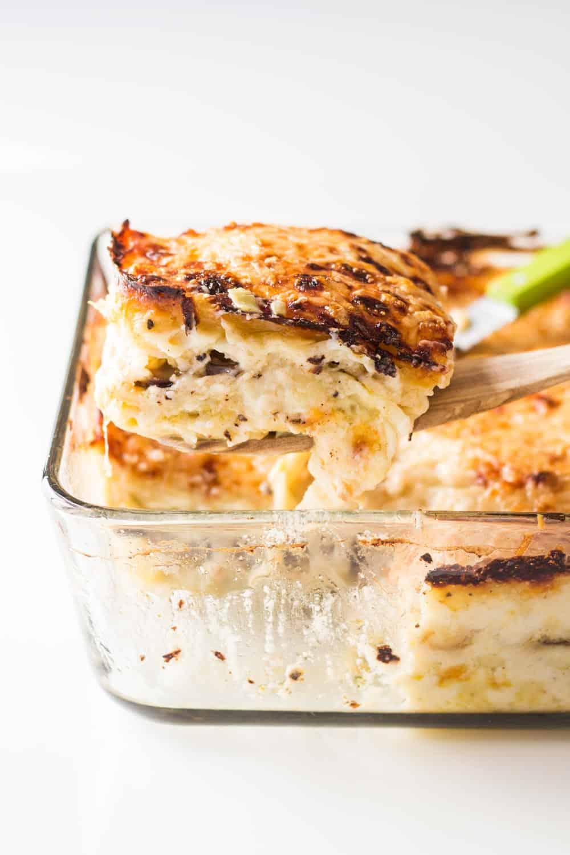 Artichoke Mushroom Lasagna with Bechamel Sauce