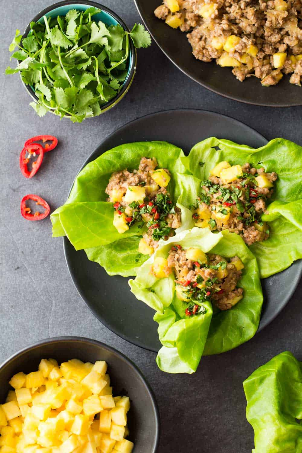 Ground Pork Lettuce Wrap
