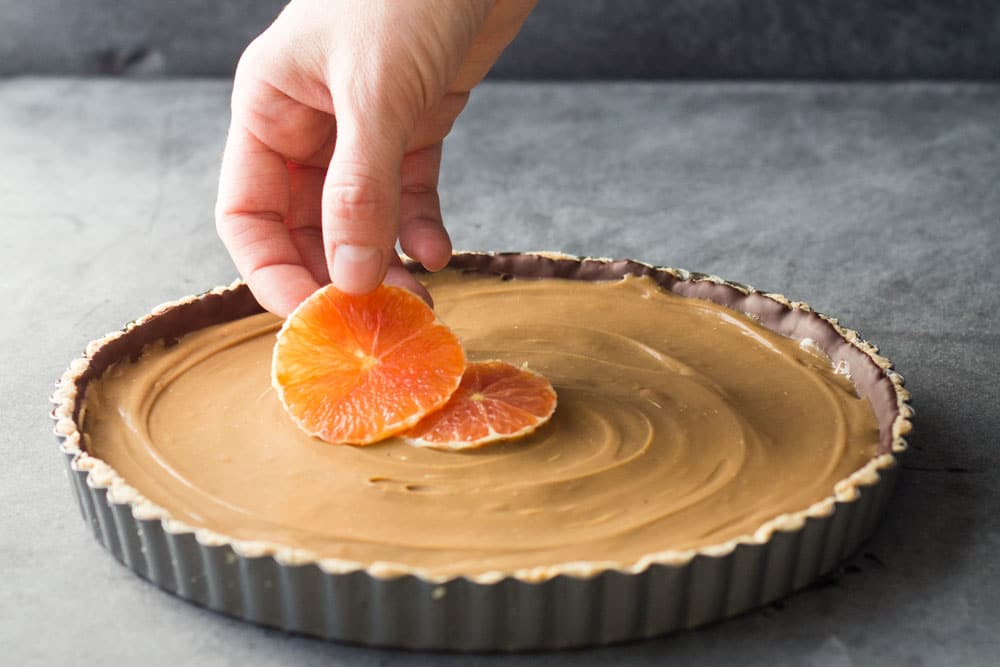 Healthy Almond Chocolate Caramel Orange Tart - Green ...