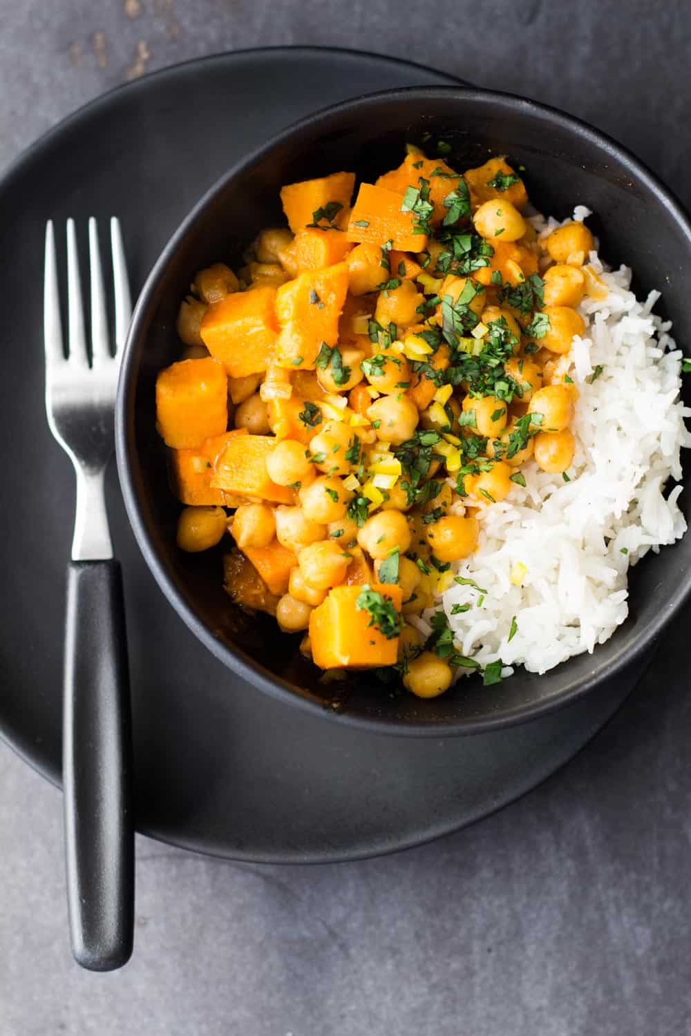 Vegan Sweet Potato and Chickpea Curry