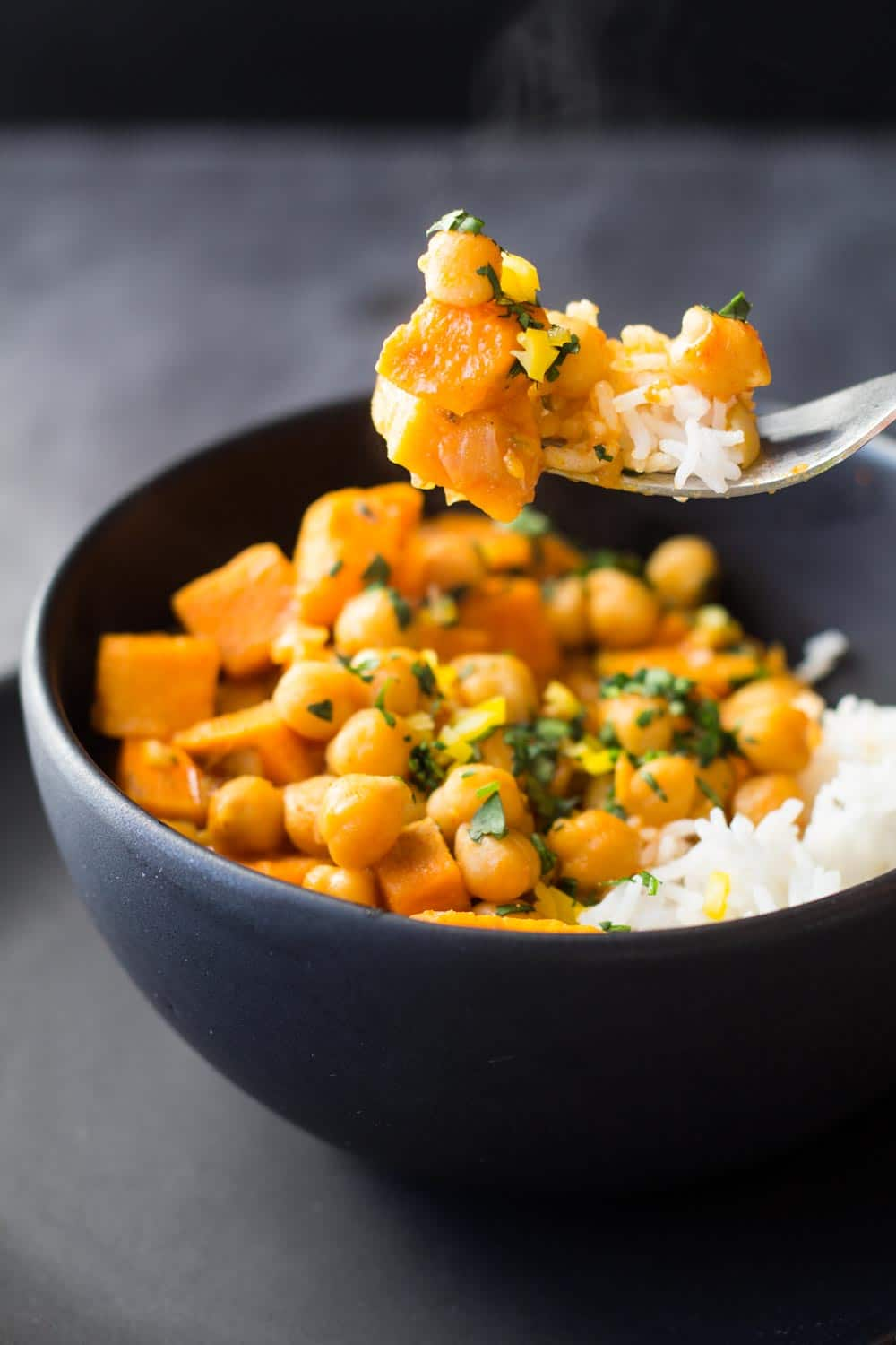 Sweet potato curry, Potato curry and Chickpeas on Pinterest
