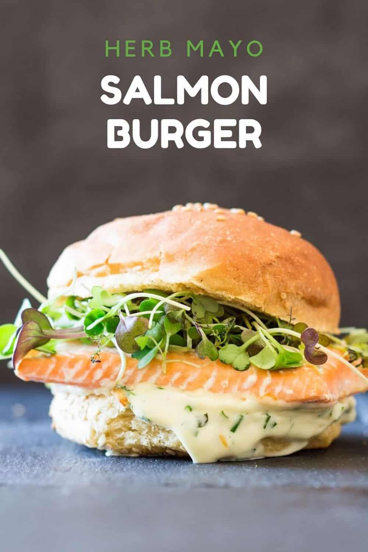 Salmon Burger with Herb Mayonnaise