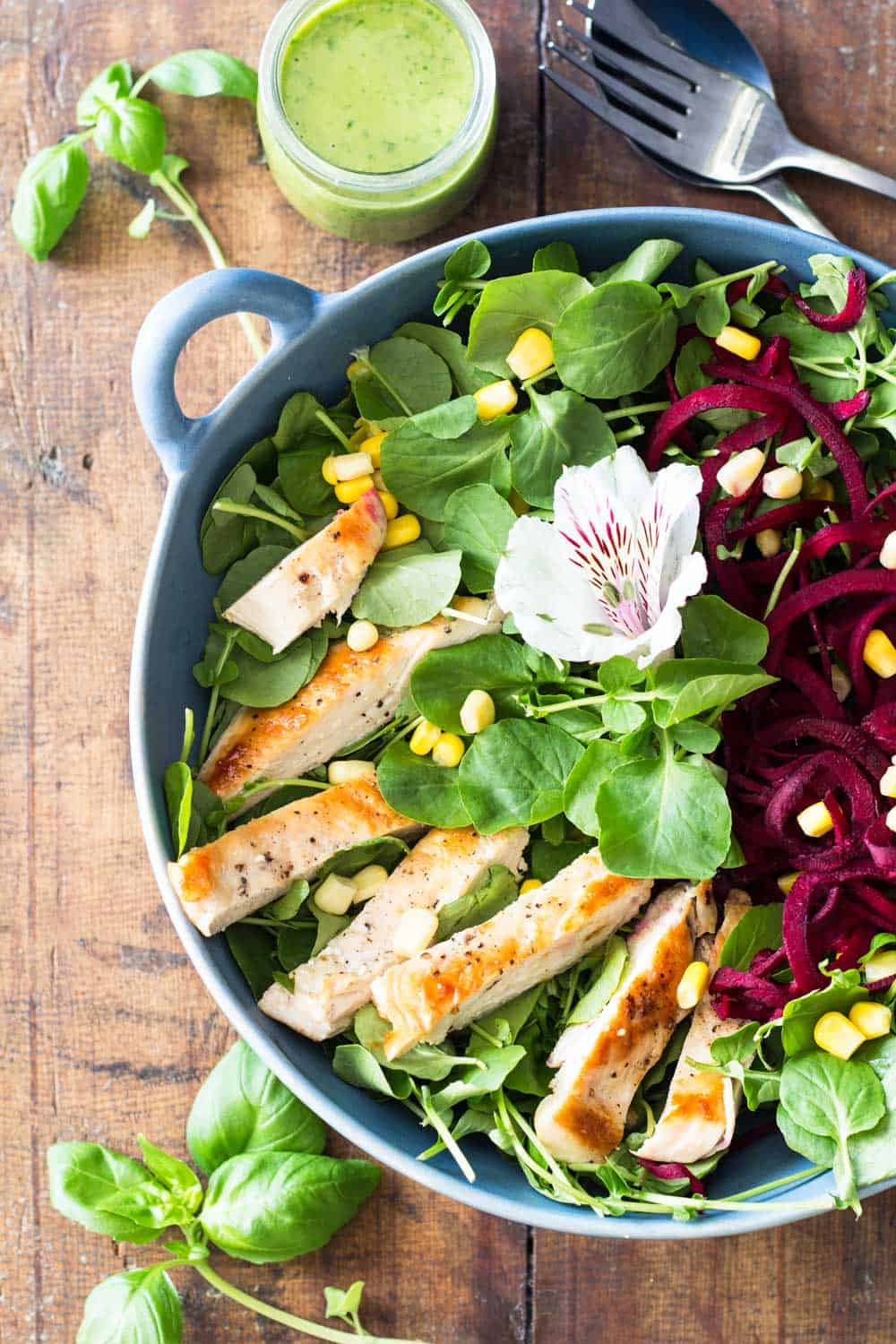 Watercress Salad with Basil Clementine Dressing