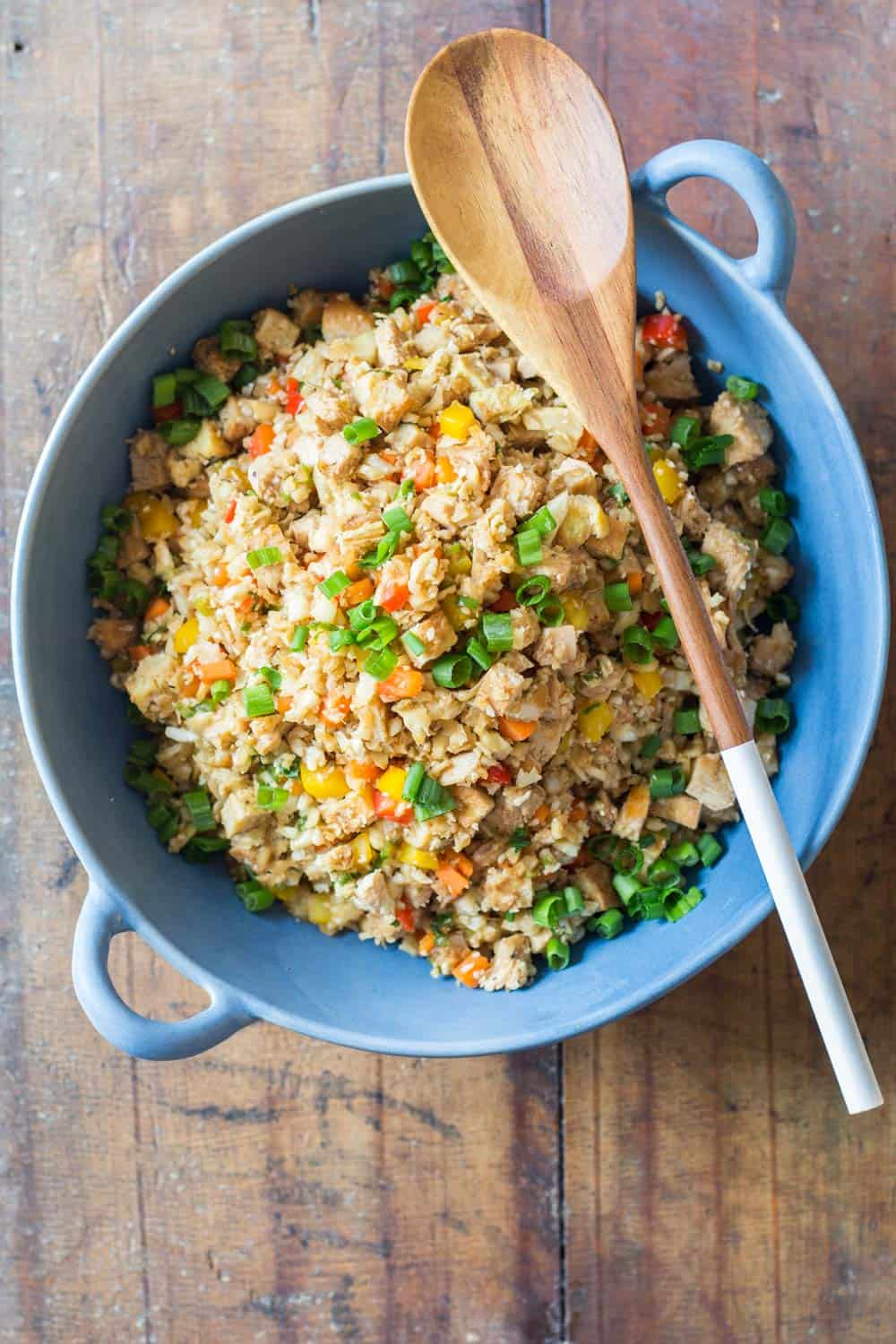 Cauliflower fried rice green healthy cooking looking for a low carb and high protein dinner recipe full of vegetables ccuart Choice Image