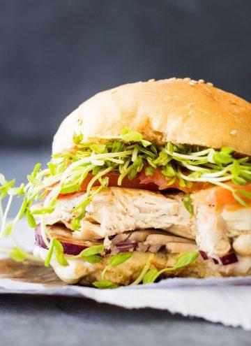 Bitten Easy Grilled Chicken Burger.