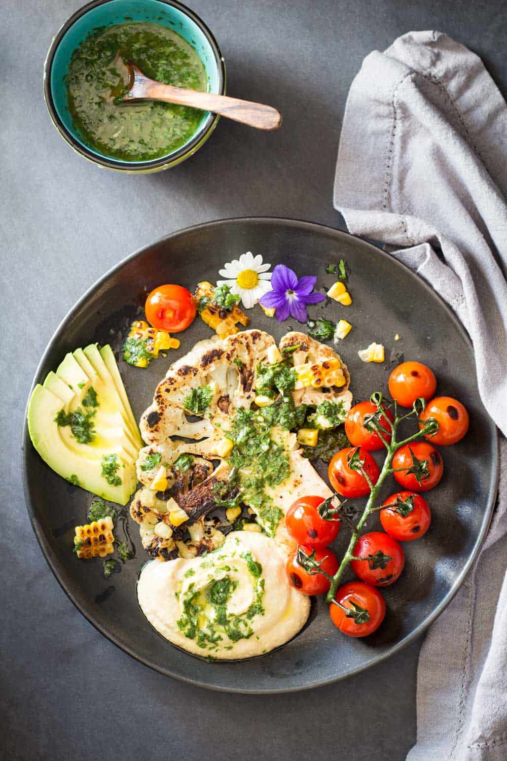 Grilled cauliflower steak green healthy cooking let the vegan grilling season begin bbqs are not just for carnivores here is forumfinder Image collections