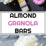 Collage of Almond Granola Bars images with text overlay for Pinterest.