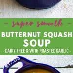 Butternut Squash Soup Pin Collage