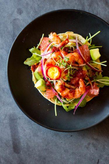 15-Minute Shrimp Tostadas