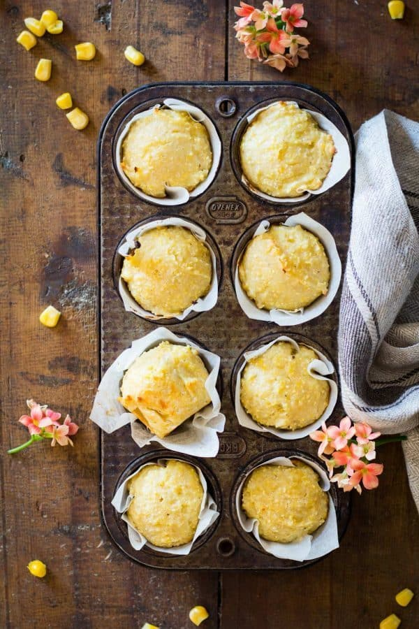 Do you ever wish there were more savory muffin recipes out there to enjoy? I've got the best Cheddar Cornbread Muffins recipe for you evaaaaa! Cheesy, corny, creamy, salty, moist.... YUM!