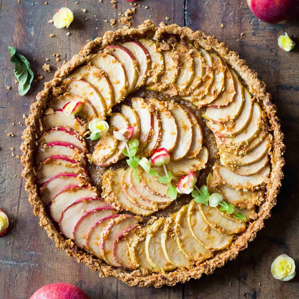 Simple Apple Tart - Green Healthy Cooking