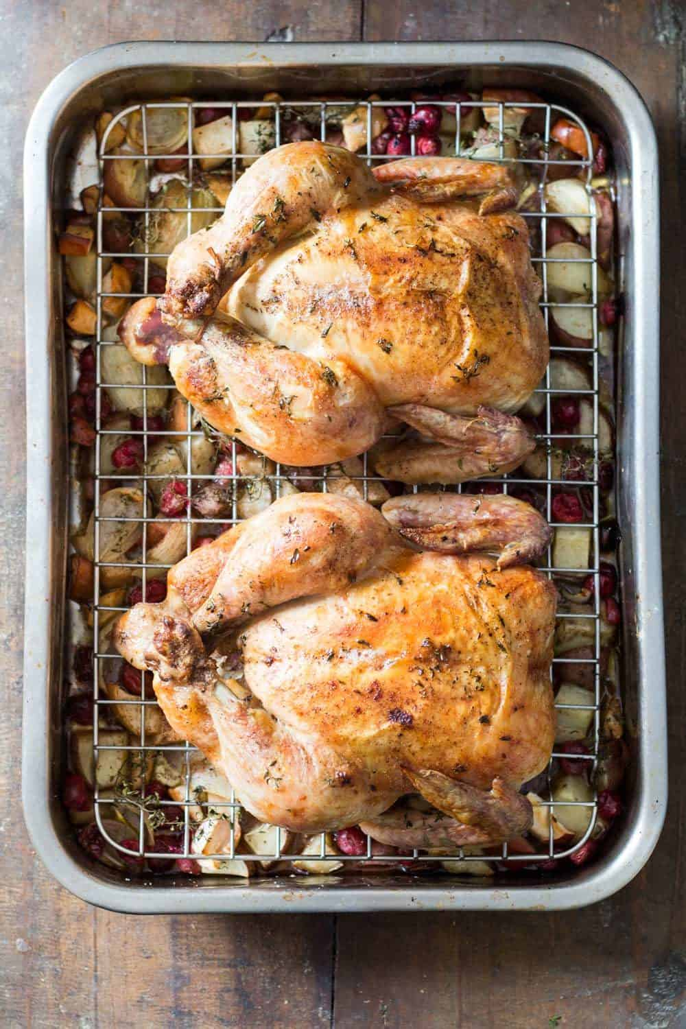 Two Whole Roasted Chickens