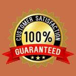 100% Guaranteed Customer Satisfaction seal.