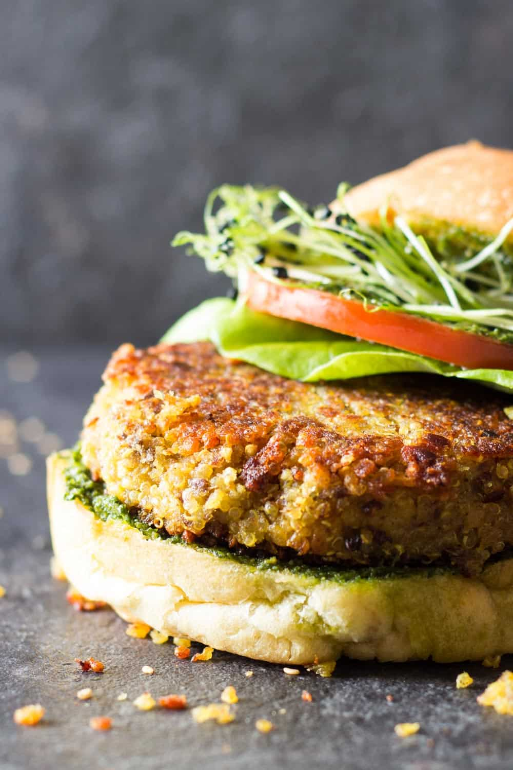 Tired of reading 500-ingredient 2-hour quinoa burger recipes? Welcome to this healthy 30-Minute Quinoa Burger Recipe. 12 ingredients + 30 minutes = dinner!