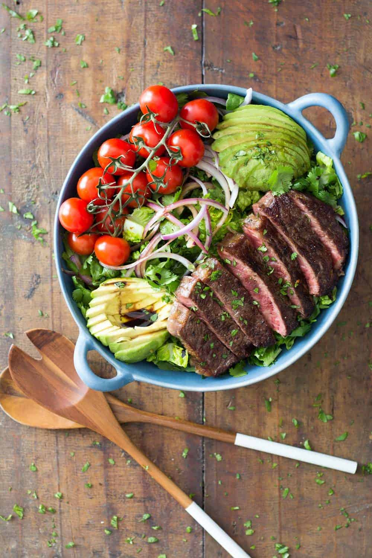 Strip Loin Steak Salad
