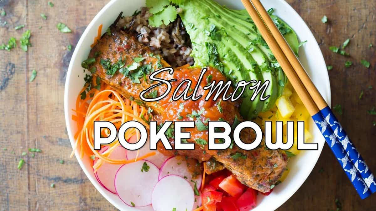 Cooked Salmon Poke Bowl - Green Healthy Cooking