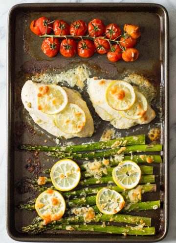 Lemon chicken asparagus