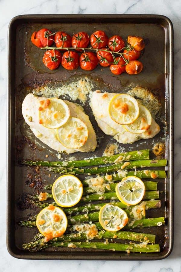 Lemon chicken asparagus