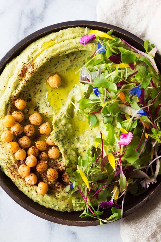 5-Minute Spicy Avocado Hummus